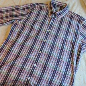 Brooks Brothers Slim Fit Plaid Dress Shirt